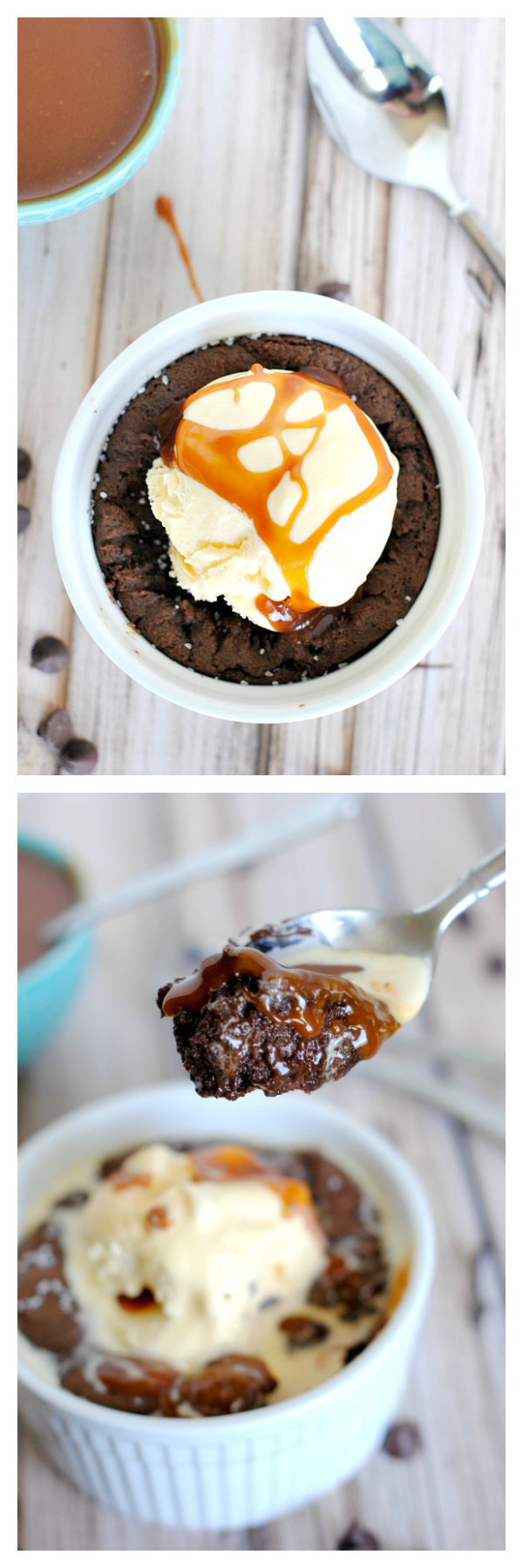 Chocolate Salted Caramel Pizookie Recipe-Gooey, Decadent and Amazing!