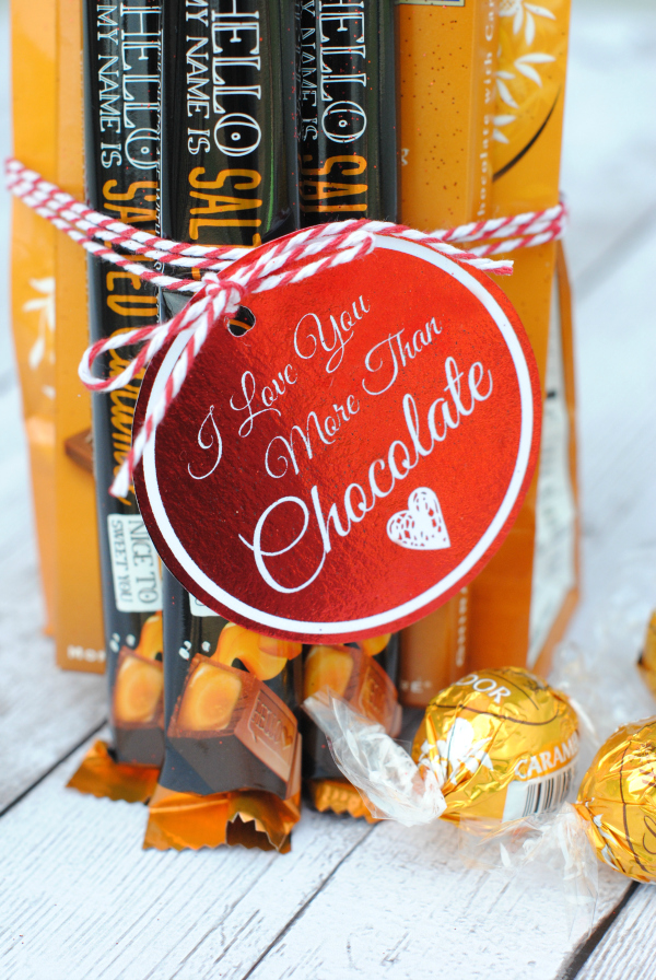 Love You More Than Chocolate Gift Idea and Tag