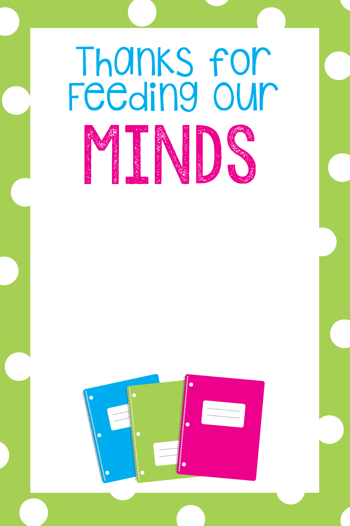 Printable Gift Card Holders for Teachers