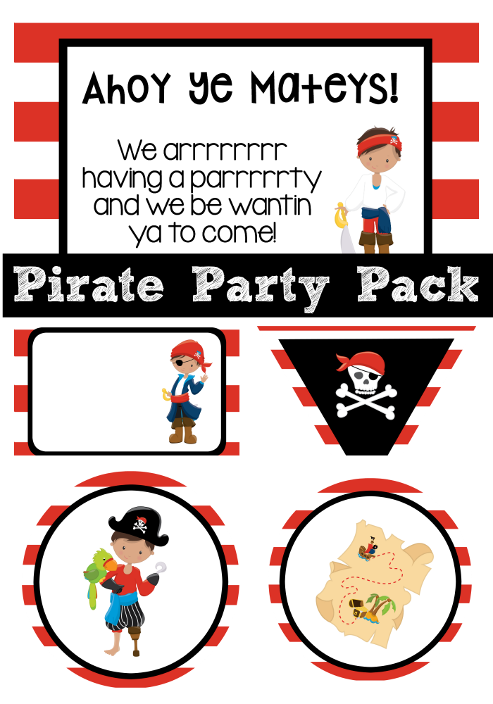 graphic about Pirate Party Printable titled Pirate Occasion Strategies-Invites, Foods, Online games and Even further