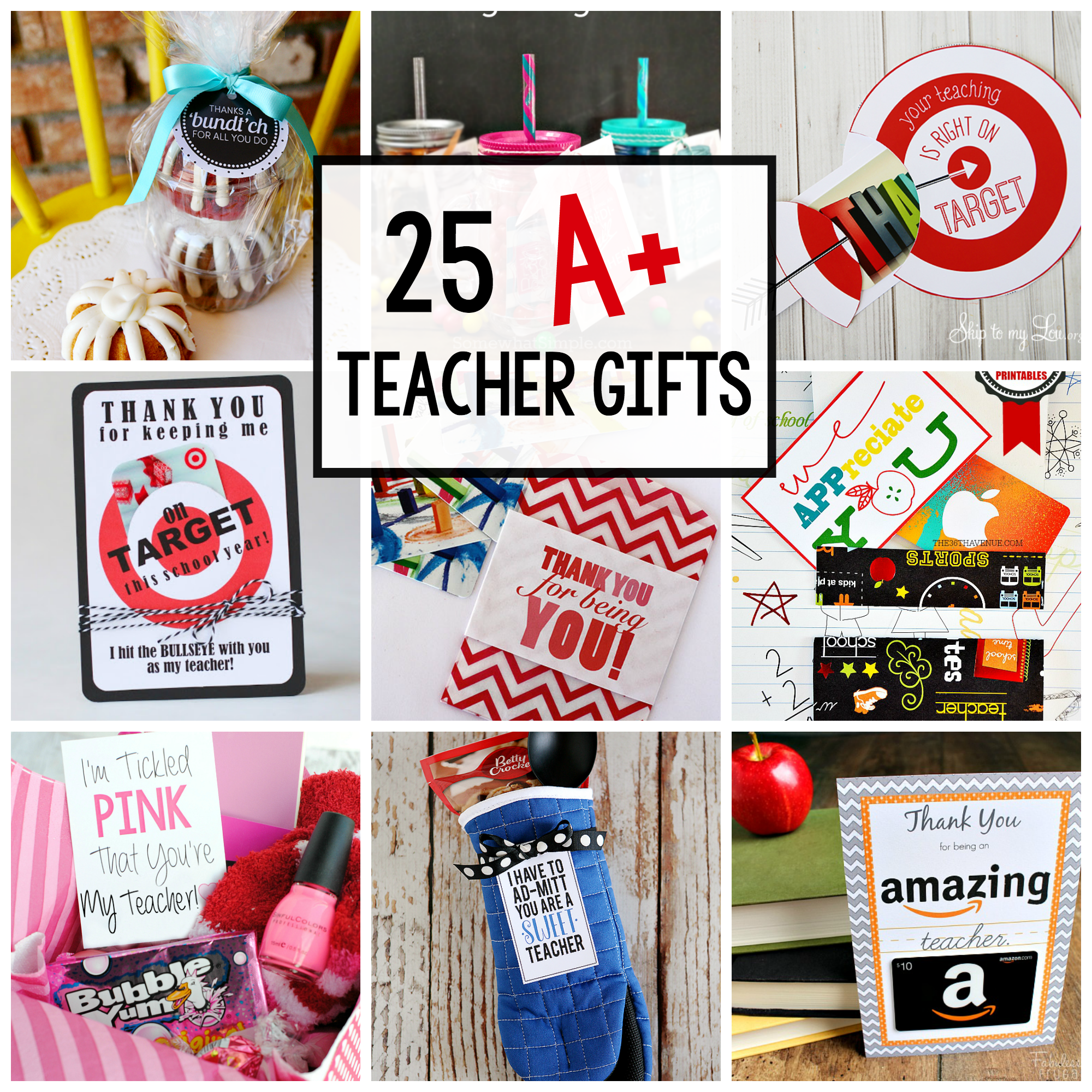 Classroom Keepsake Ideas ~ Teacher appreciation gift idea candy bars crazy little