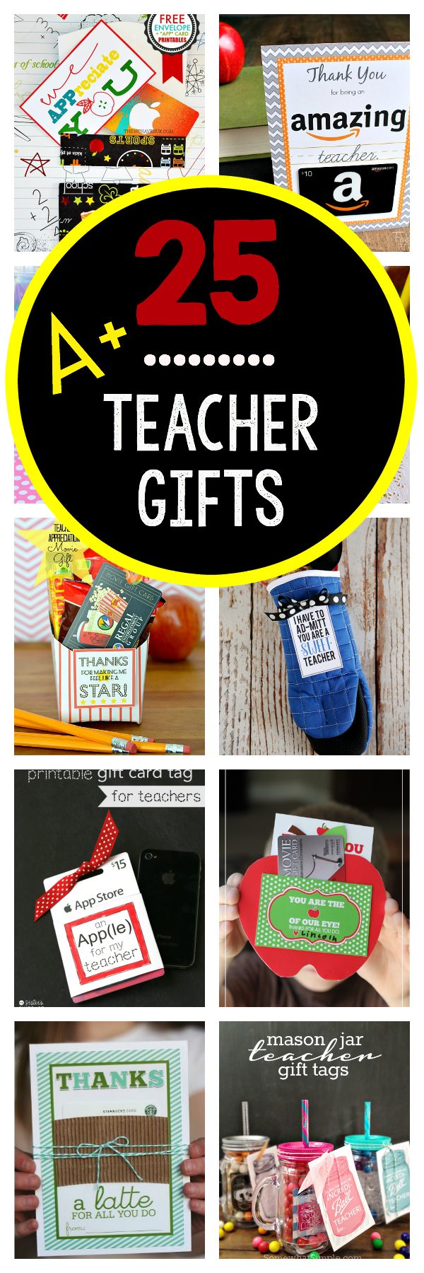 Teacher Appreciation Gifts That Teachers Will Really Love! These cute and easy teacher gifts are creative ideas of things to give your teacher that she will actually love and use. Great teacher gifts! #teacherappreciation #teachergifts #teacherappreciationweek #teachergiftideas