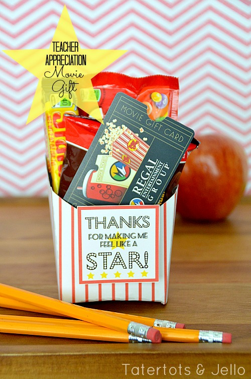 25 teacher appreciation gifts that teacher will love teacher appreciation movie gift at tatertots and jello negle