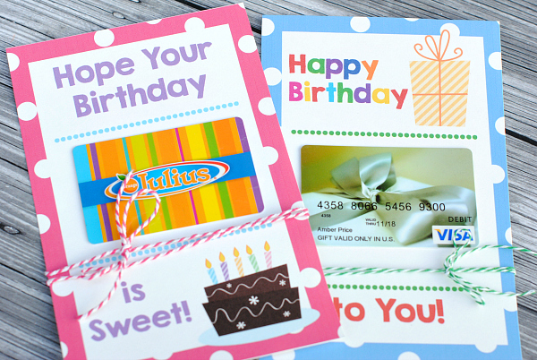 Birthday Gift Card Holders
