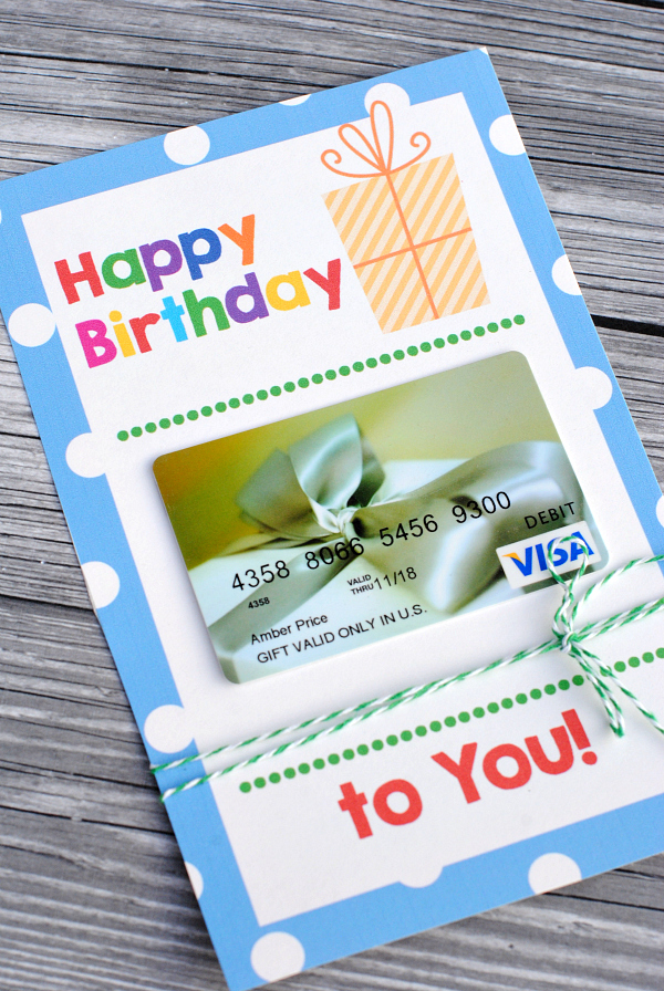 Cute Printable Birthday Gift Idea