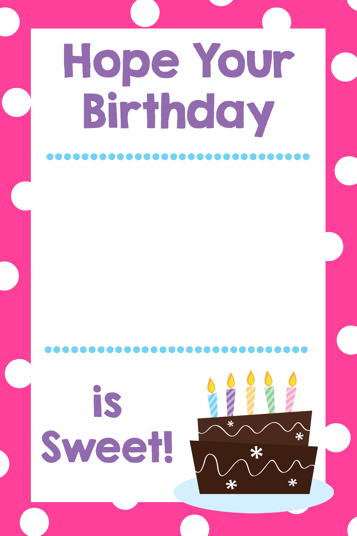printable birthday gift card holders - crazy little projects