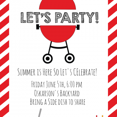 Summer BBQ Invitations