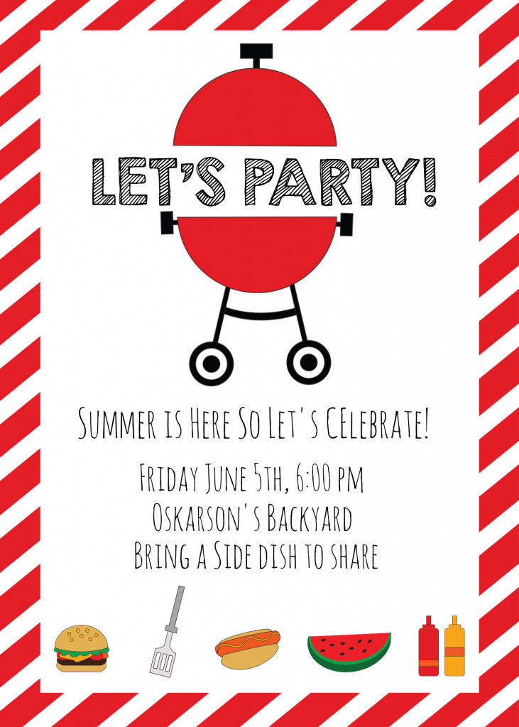 Summer BBQ Invitations and Ideas
