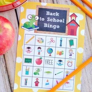 Back to School Bingo Printable Game