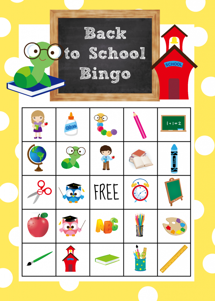 Back To School Bingo Game To Print & Play