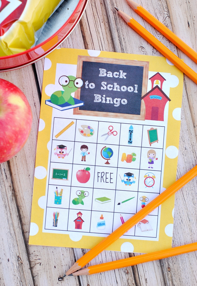Back to School Bingo Printable Game