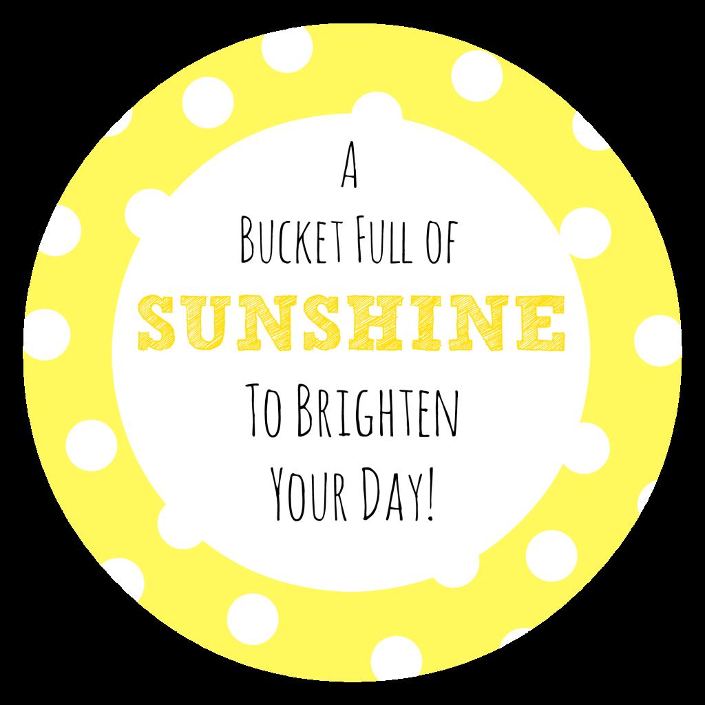 Bucket Full of Sunshine Tag
