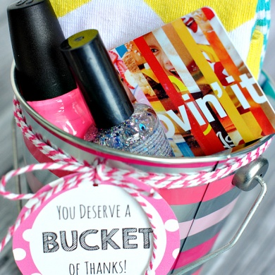 Thank You Gift Ideas-Bucket of Thanks!