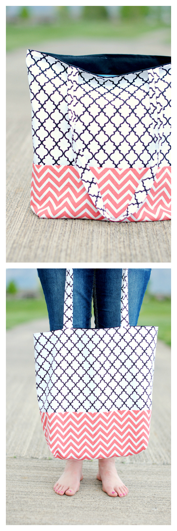 How to Make a Bag: Follow this easy and simple tote bag pattern to sew up a bag that's perfect for anything you need to carry. #totebag #patterns #sew #sewing #bagpatterns