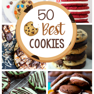 50 Best Cookies to Bake at Home! All of these cookies are amazing. Think outside the chocolate chip cookie and try some of these. The best cookies ever! #cookies #cookie #cookierecipes #dessert #dessertrecipes