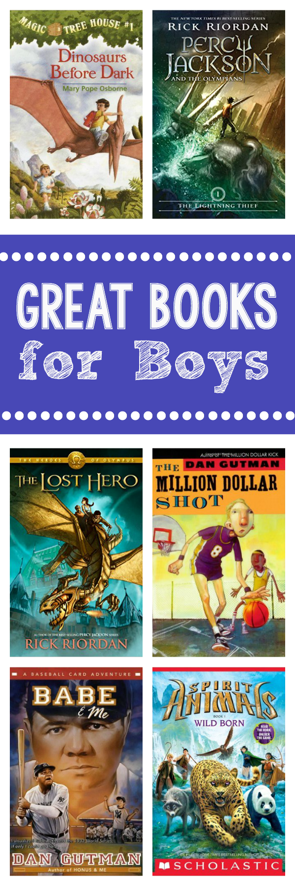 Great Summer Books for Boys-Book Recommendations for Elementary Age Boys