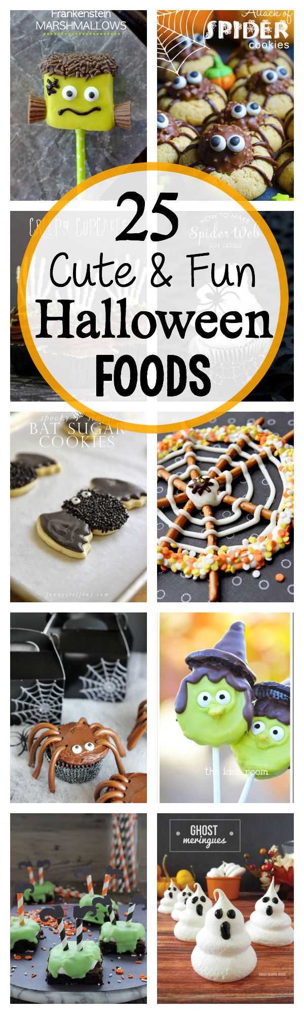 25 Cute and Easy Halloween Treats-These cute Halloween treat ideas are so much fun to make for Halloween! they are darling and the kids will love them! #Halloween #treats #dessert