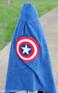 Captain America Hooded Towel Tutorials