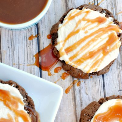 Chocolate Salted Caramel Cookies