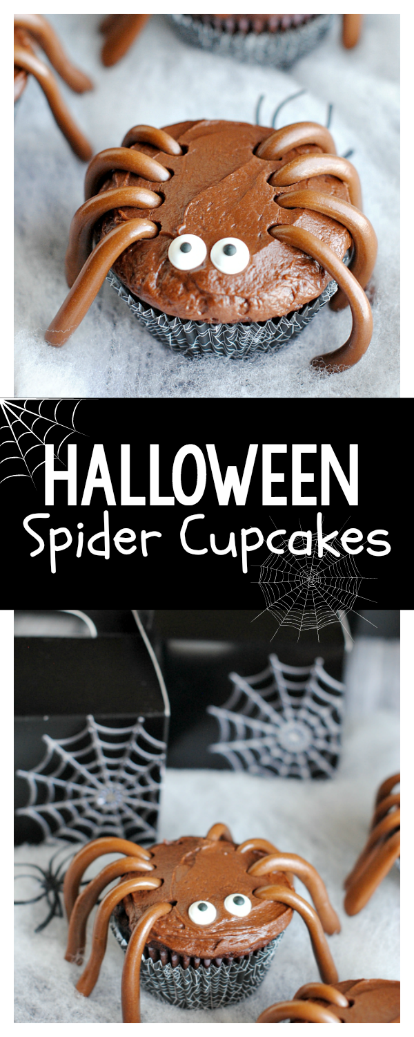 Cute Halloween Spider Cupcakes-These are so cute for a Halloween party or just for fun!