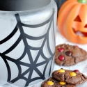 Spiderweb Halloween Cookie Jar