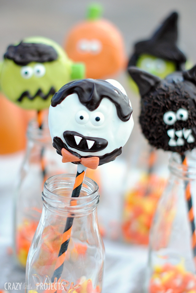 Cute Halloween Treats-Halloween Characters on a Stick