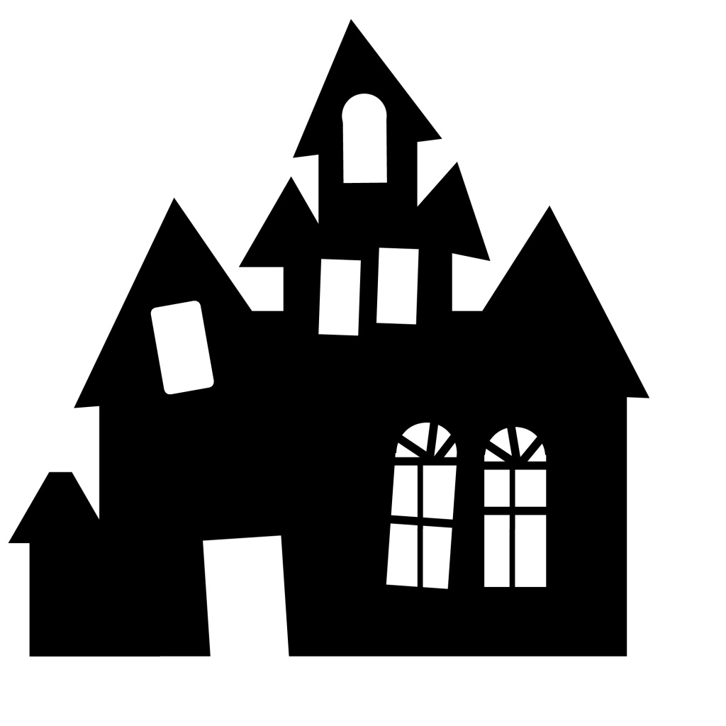 haunted house silhouettes coloring pages - photo#29