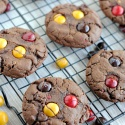 Chocolate Peanut Butter Cookies with Peanut Butter M&M's inside!