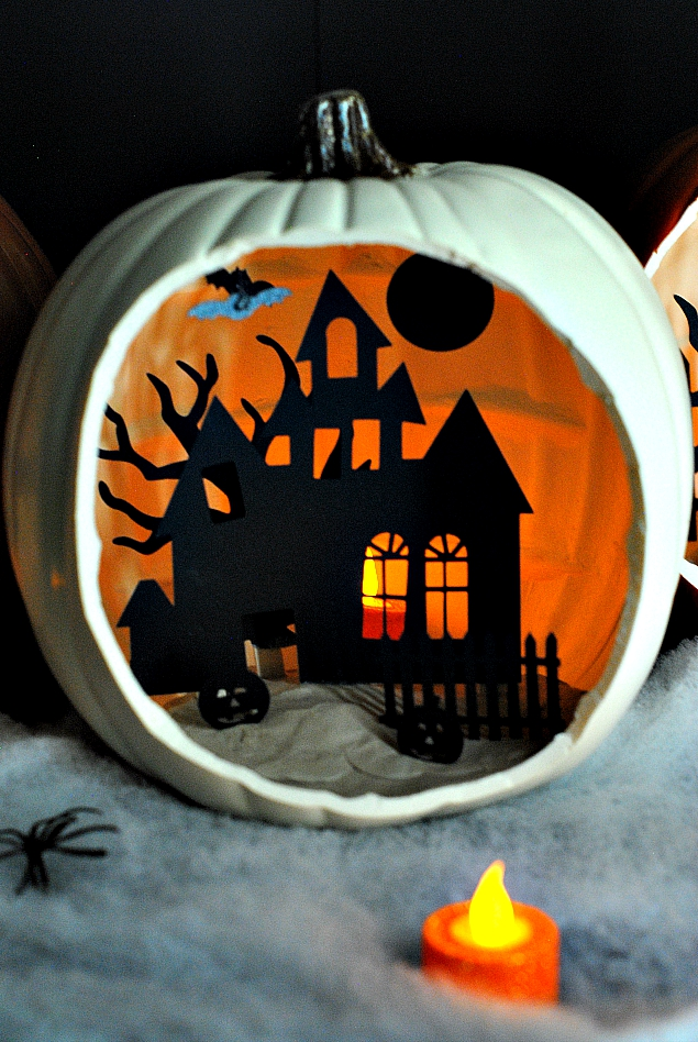 DIY Shadow Box Jackolantern