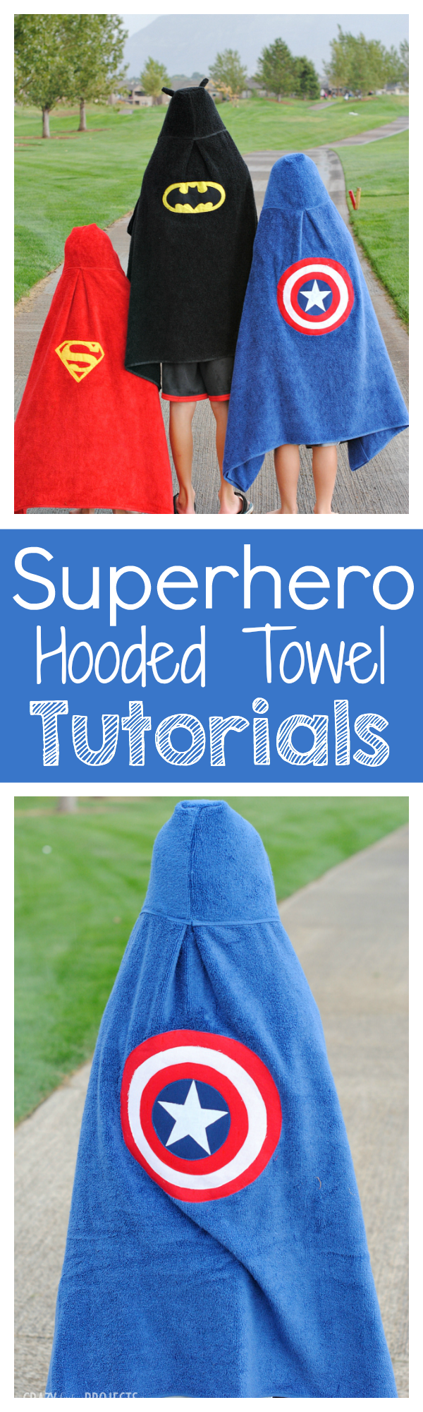 Superhero Hooded Towel Patterns
