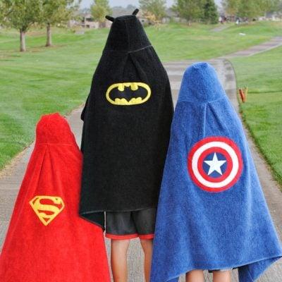 Superhero Hooded Towels