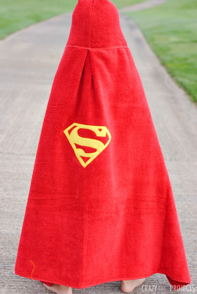Superman Hooded Towel Pattern