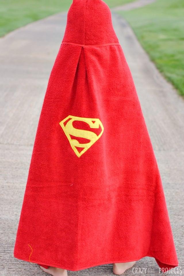 Superman Hooded Towel Pattern