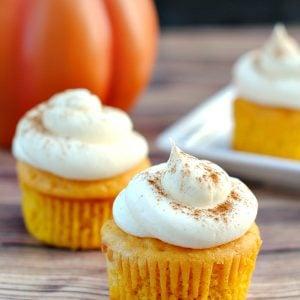 Easy Vanilla Pumpkin Cupcakes