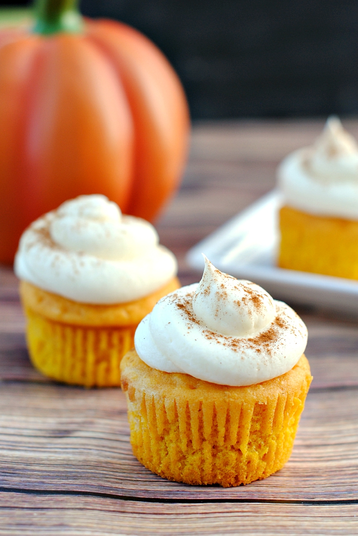 cupcakes recipes pumpkin spice cupcake vanilla halloween amazing fall recipe crazy printable unique flavor party they crazylittleprojects fun projects invitations