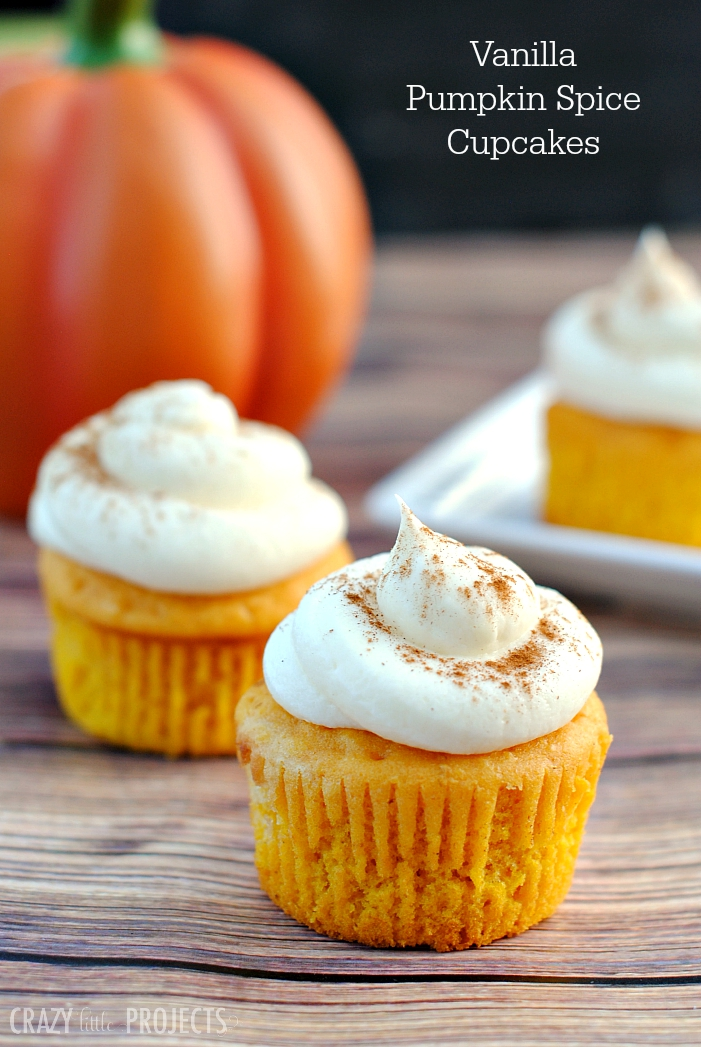 Easy Vanilla Pumpkin Cupcakes-A subtle pumpkin cupcake recipe that's easy to make and is going to give you that perfect Autumn flavor in every bit you take! These pumpkin cupcakes are topped with buttercream and spice and you're going to love them! #pumpkin #cupcakes #pumpkins #dessert #dessertrecipes