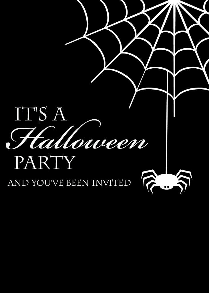 BlackSpiderHalloweenInvitation