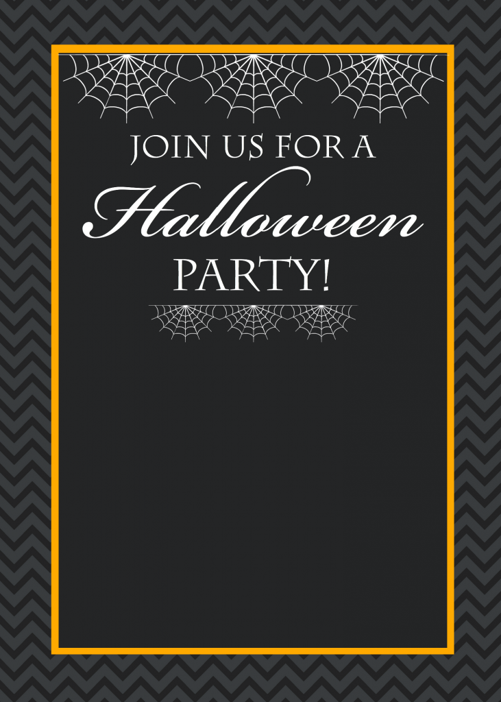 here are your halloween invitation templates hauntedhouseinvitation save chevronhalloweeninvitation save blackspiderhalloweeninvitation - Free Halloween Invite Templates