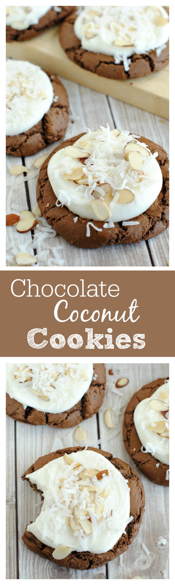 Chocolate Coconut Cookies