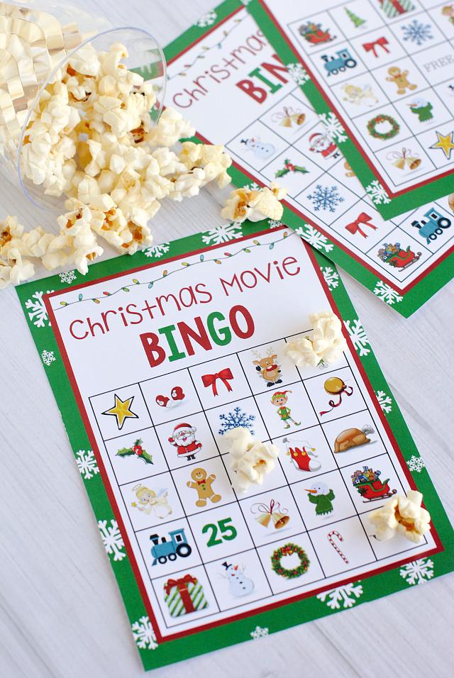 Christmas Movie Night Bingo