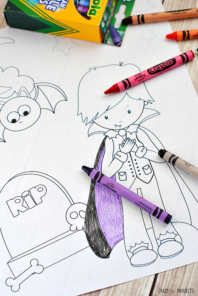 free printable dracula coloring page