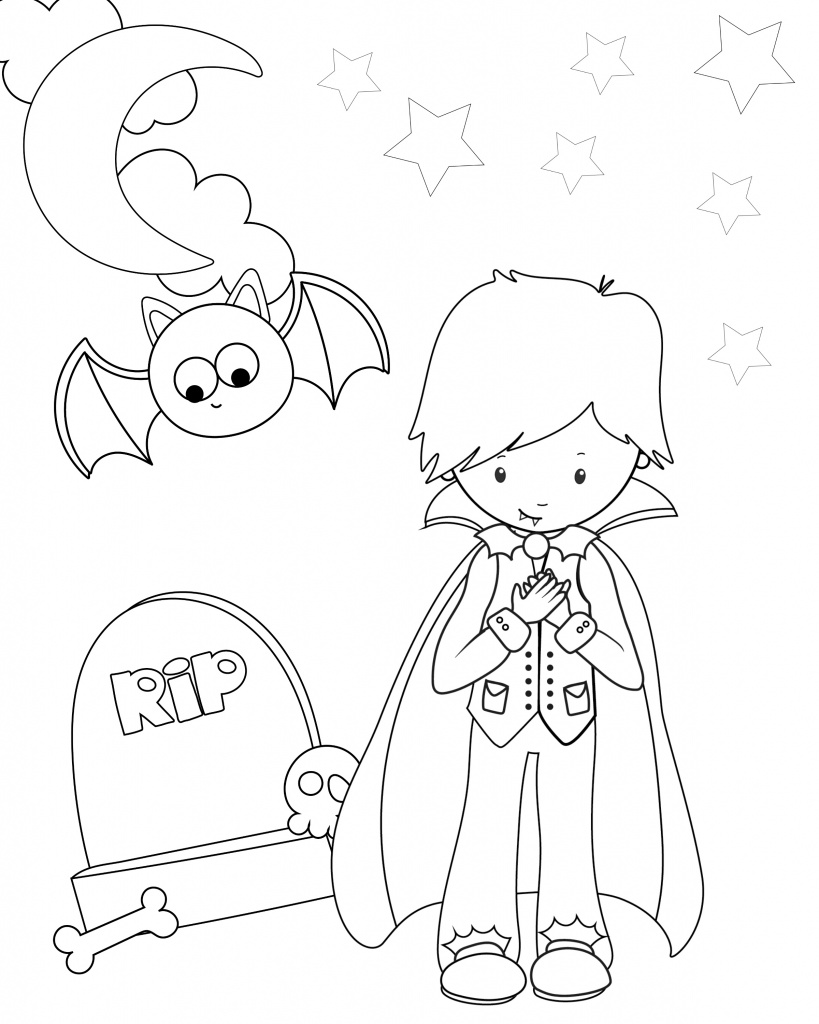 Free Printable Dracula Coloring Pages