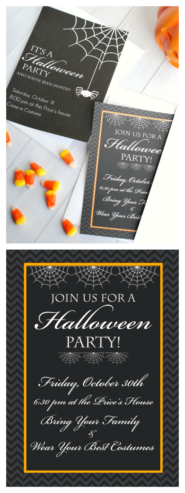 Free Printable Halloween Invitations - Crazy Little Projects