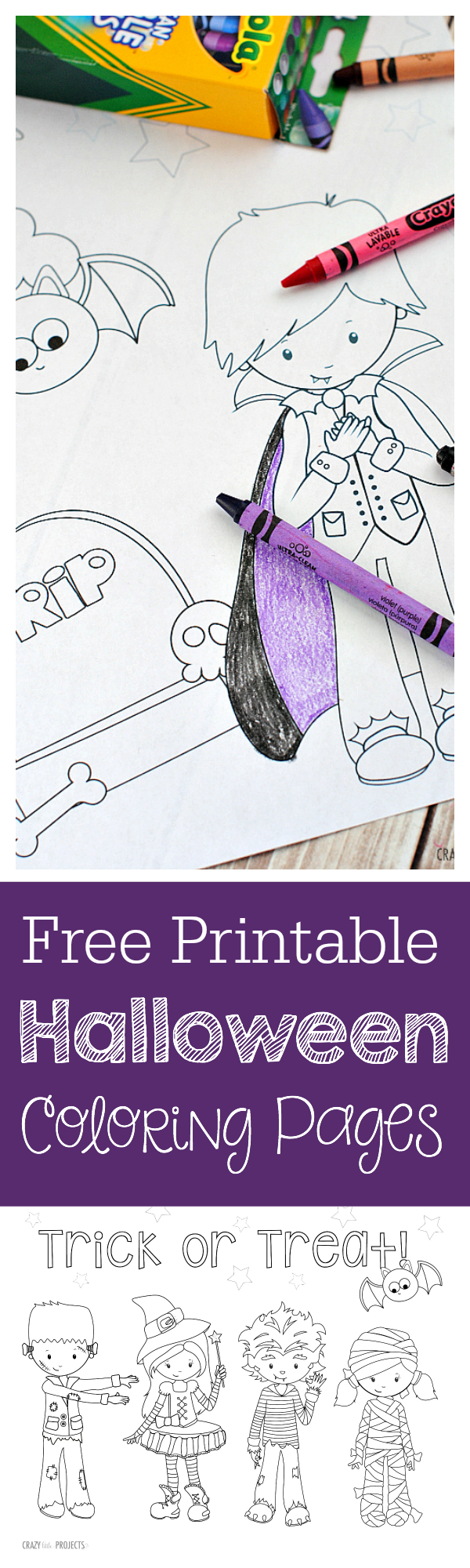 Free Printable Halloween Coloring Pages-These cute Halloween coloring pages are so cute and all you've got to do is print! #Halloween #kids #coloringpages