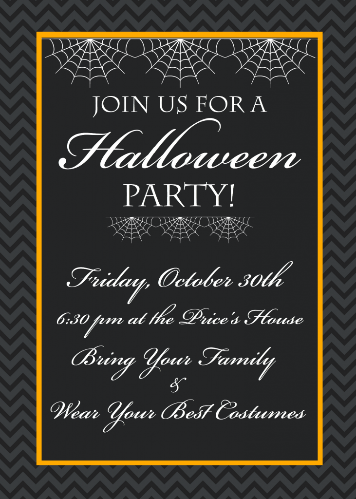 photograph relating to Printable Halloween Party Invitations called Free of charge Printable Halloween Occasion Invites - Yellow Bliss Street