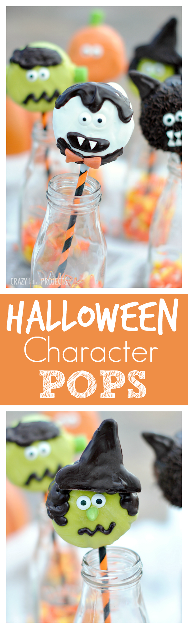 Cute Halloween Pops to make with your kids. Ding Dongs and Twinkies inside!