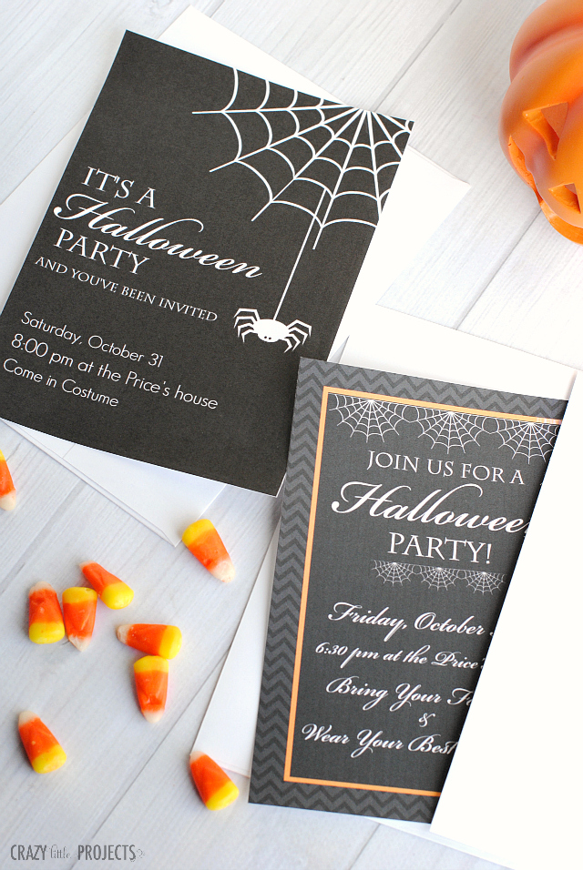 photograph about Printable Party Invitations named Cost-free Printable Halloween Celebration Invites - Yellow Bliss Street