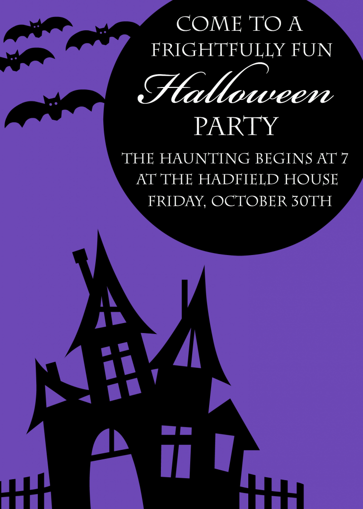Modest image for free printable halloween party invitations