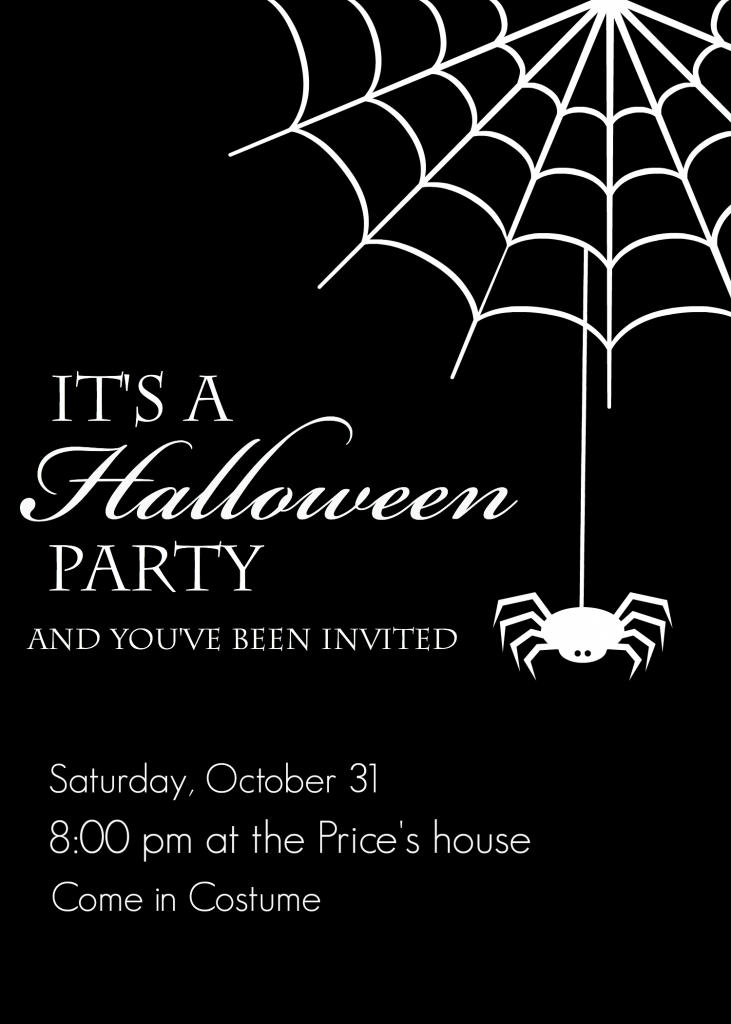 photo relating to Printable Halloween Party Invitations identify Totally free Printable Halloween Social gathering Invites - Yellow Bliss Street