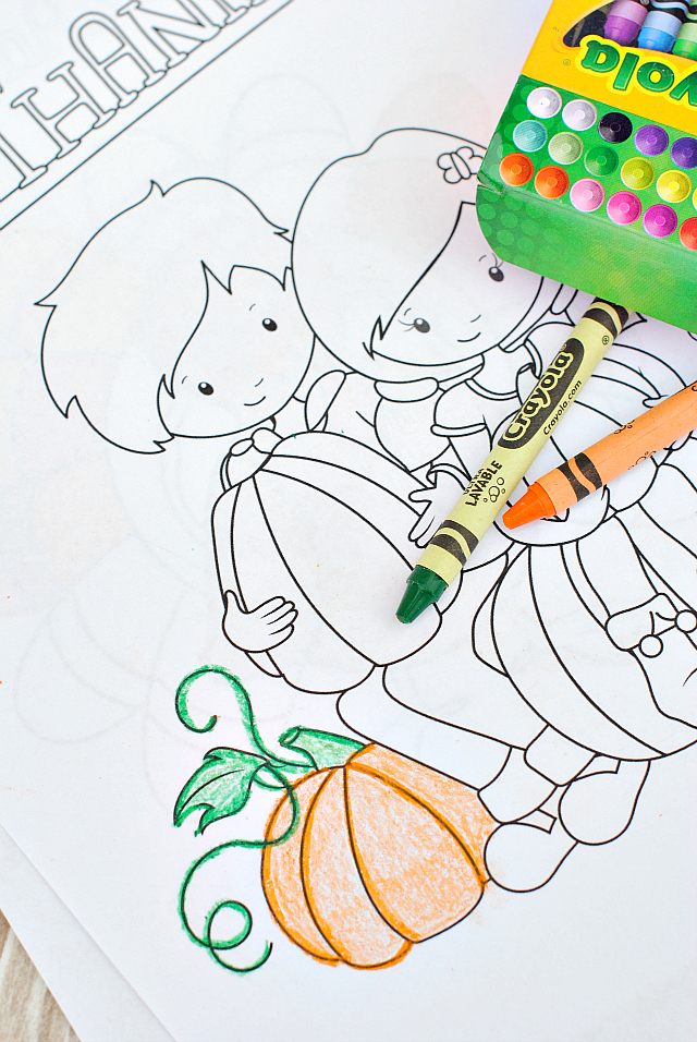 Free thanksgiving coloring pages crazy little projects for Free thanksgiving color pages